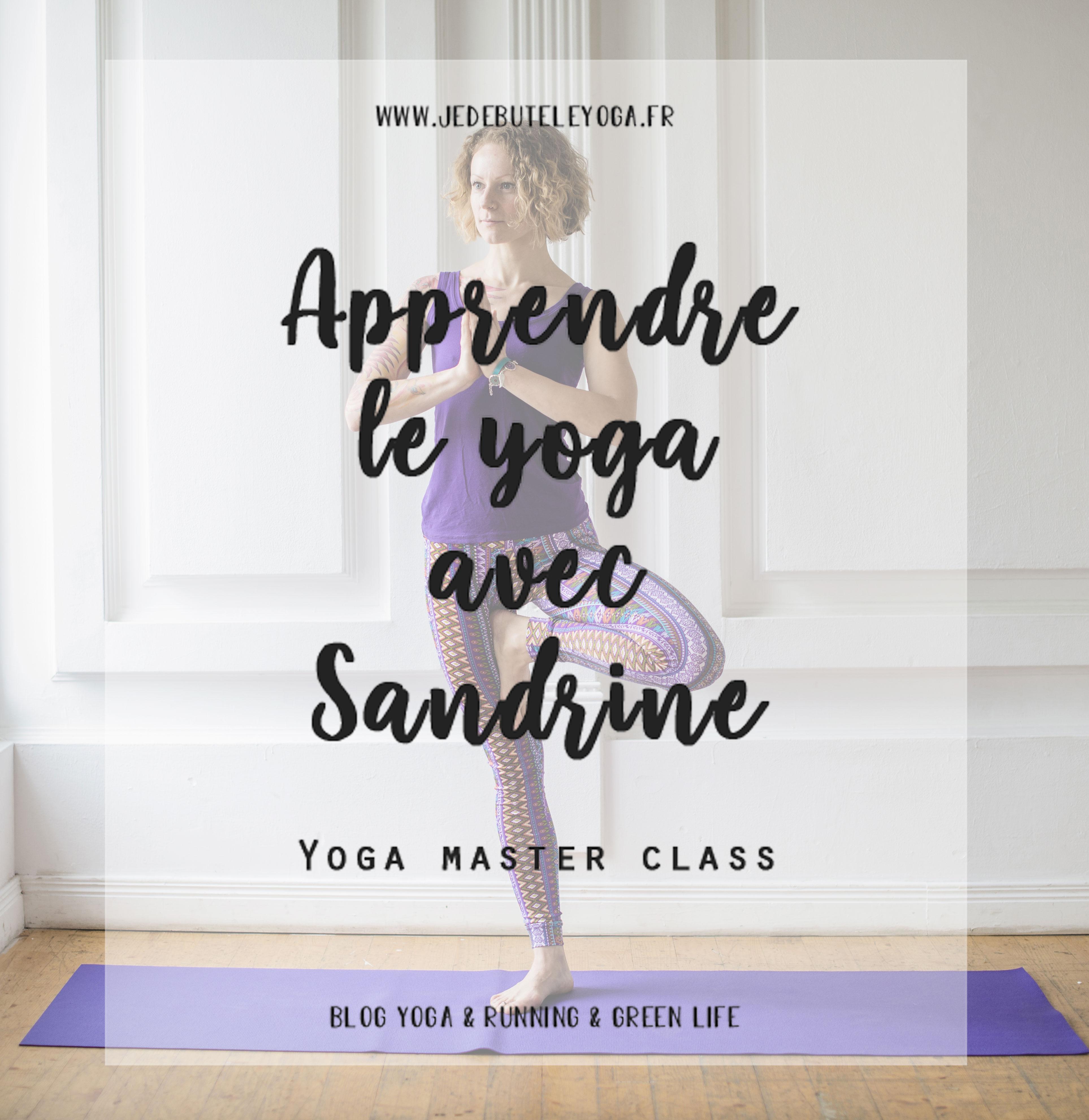 apprendre le yoga avec sandrine, yoga master class by doctissimo