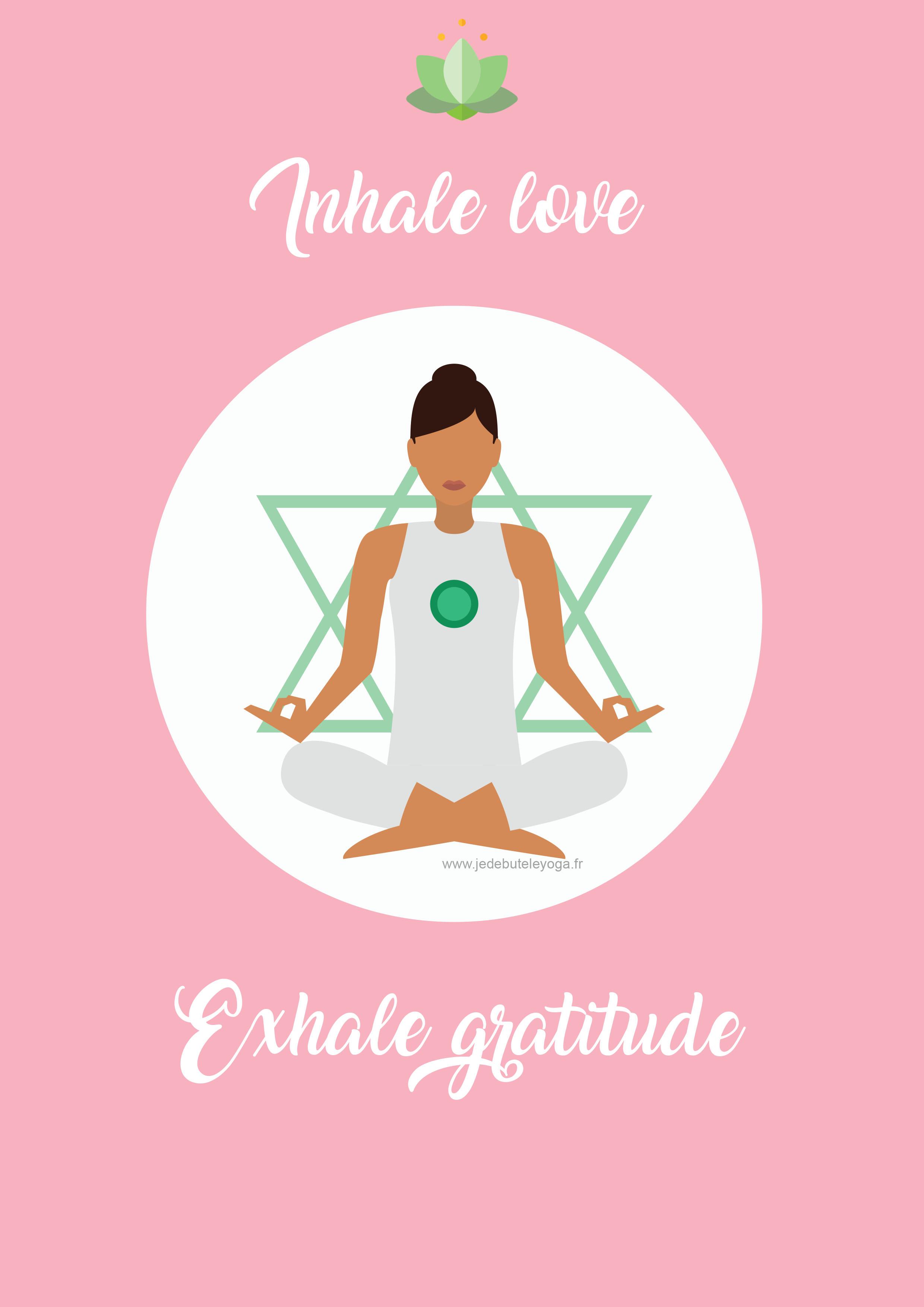 Carte yoga zen à imprimer
