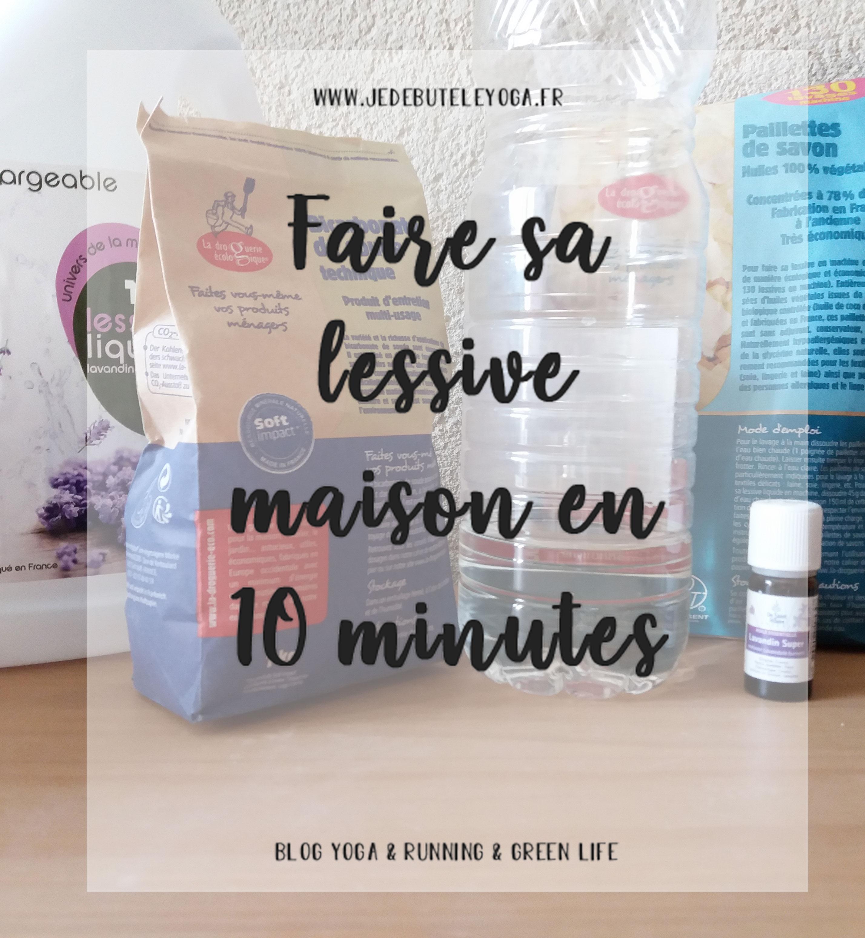 faire sa lessive maison en 10 minutes