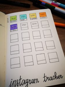 bujo instagram tracker
