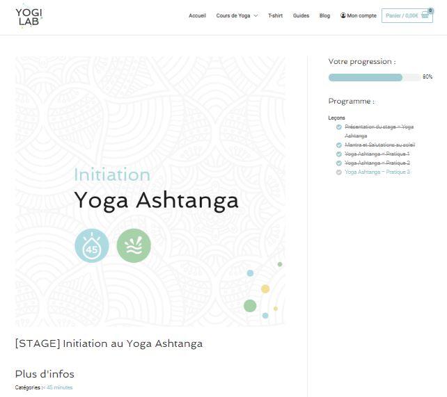 Pack Ashtanga sur YogiLab