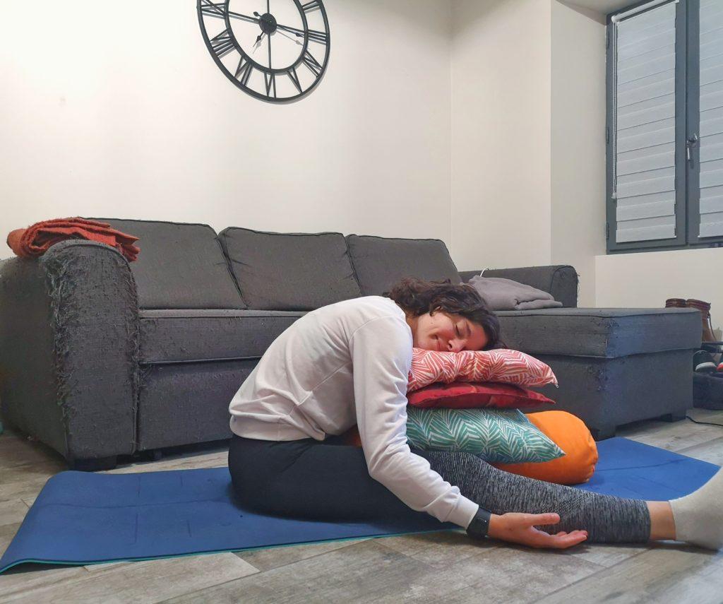 Posture de l'angle assis
