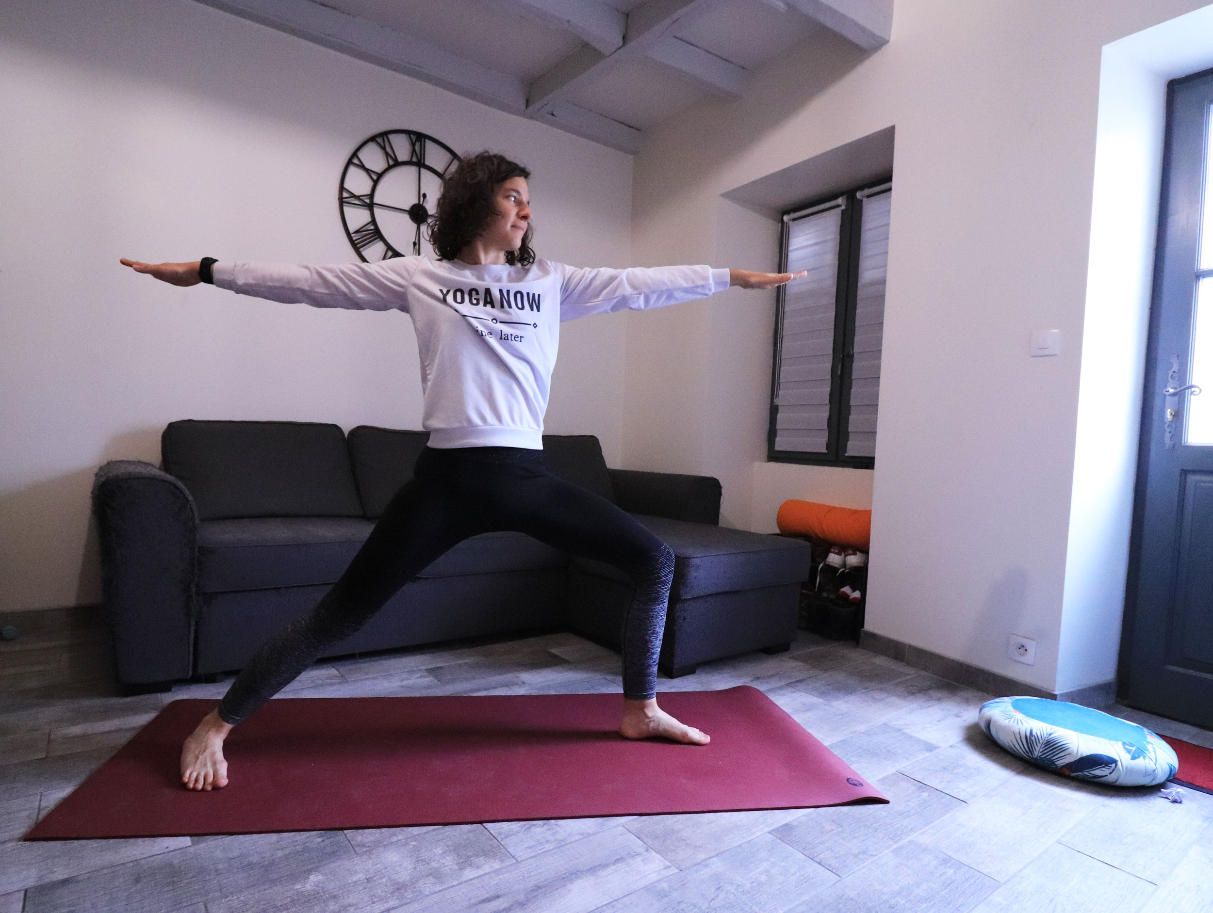 posture du guerrier II au yoga