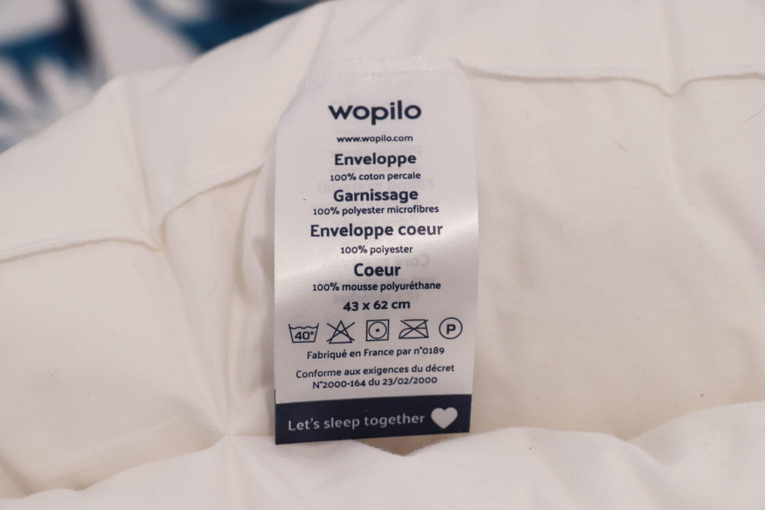 Composition oreiller wopilo+