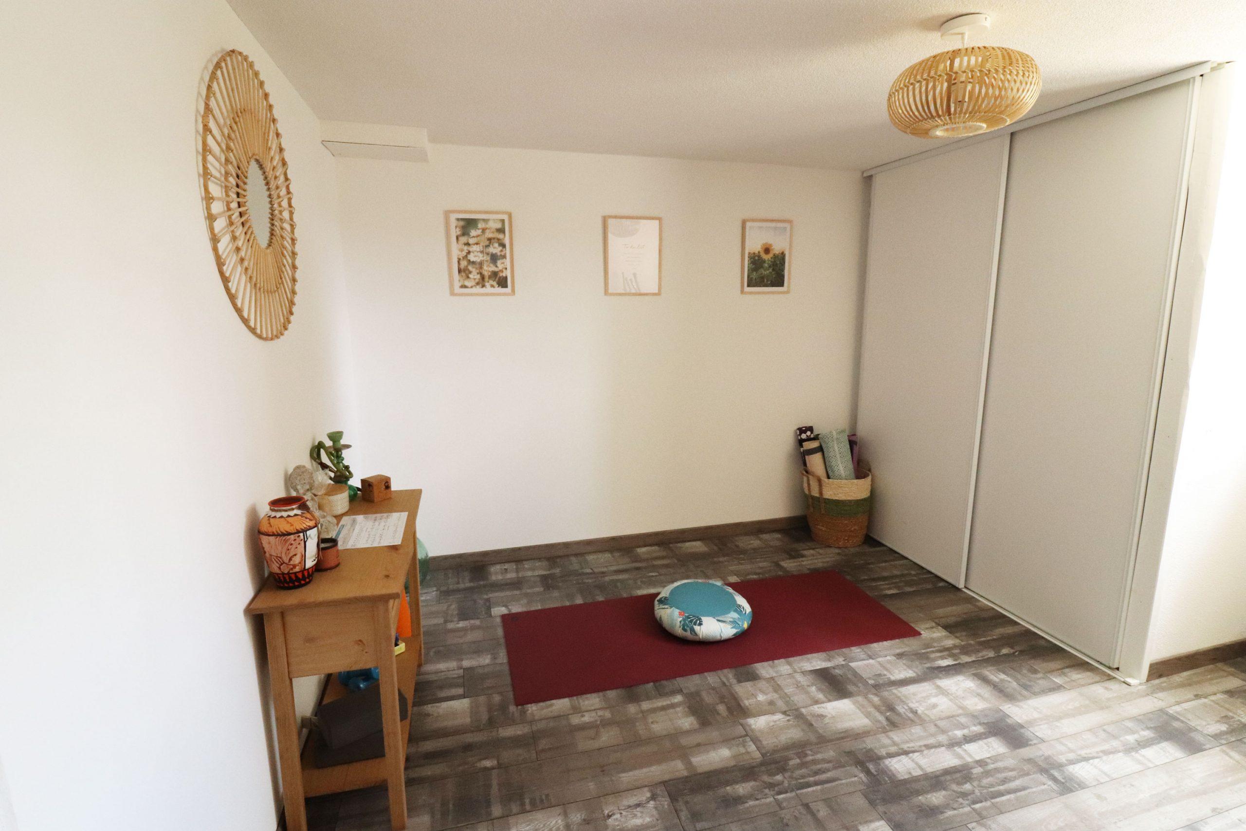 décoration pièce yoga