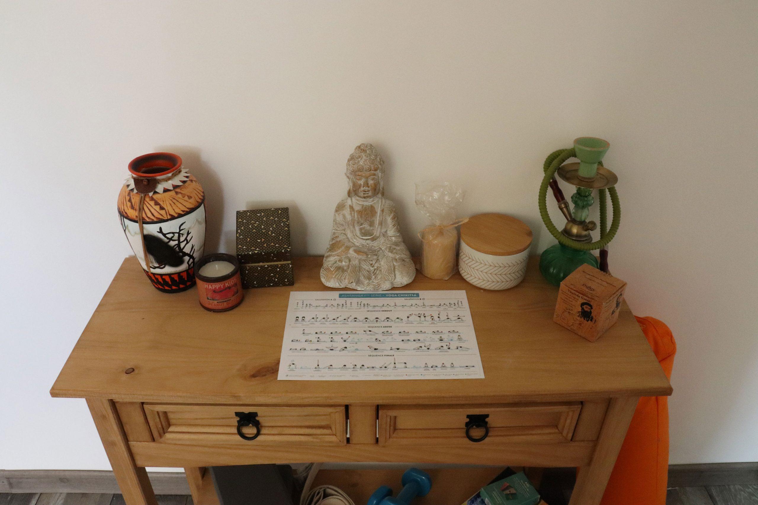 console décoration yoga