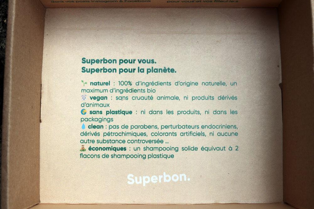 Intérieur colis Superbon