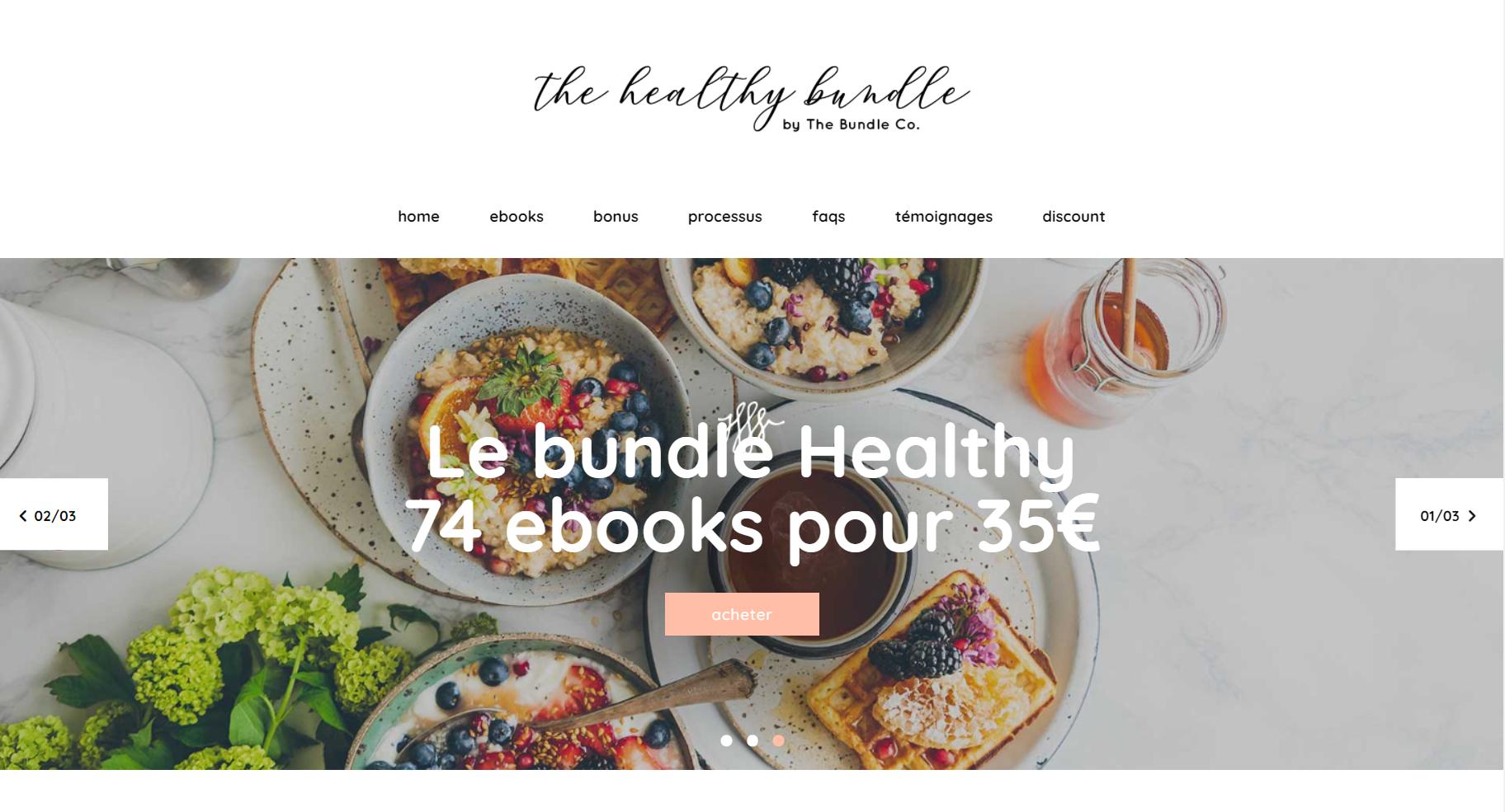 bundle healthy france septembre 2021